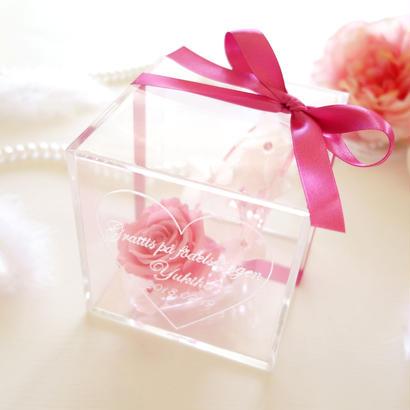 """《受注制作》message ROSE """"princess"""" ☆名入れギフト☆小さなシンデレラのガラスの靴 【結婚祝い】【誕生日】【プロポーズ】【記念日】"""