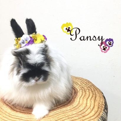 うさぎさんの花冠「Pansy」Lサイズ