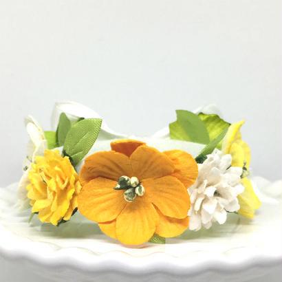 花冠「floral  yellow・A」【S】サイズ