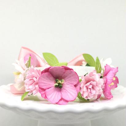 花冠「floral  pink」【L】サイズ