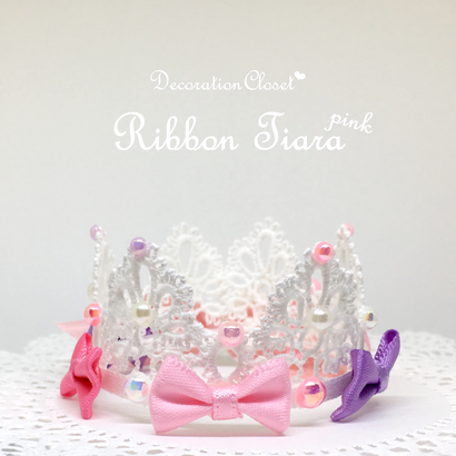 Ribbon Tiara▷Pink◁