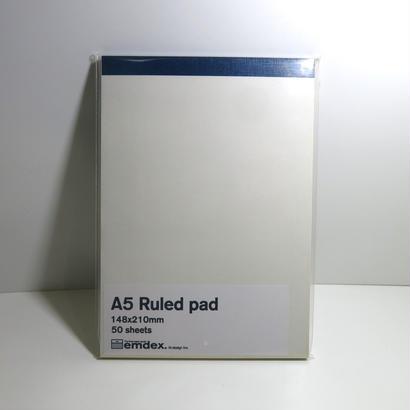 emdex  A5  Ruled pad  ルールドパッド メモ 便箋
