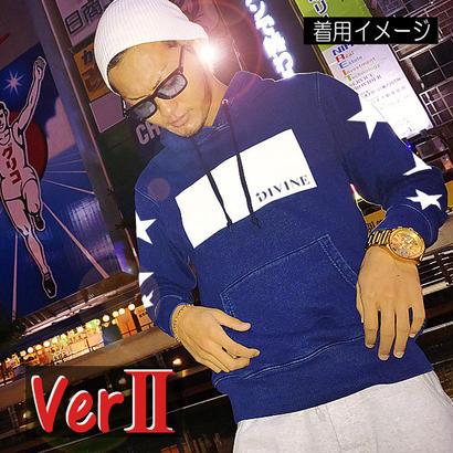 パーカーStar☆D   BOXスリースター☆インディゴデニム Ver2
