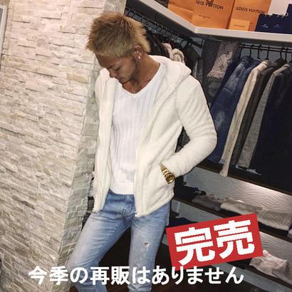 ボアパーカーStar☆D□オフホワイト□【フルオーダー】DIVINEオリジナル