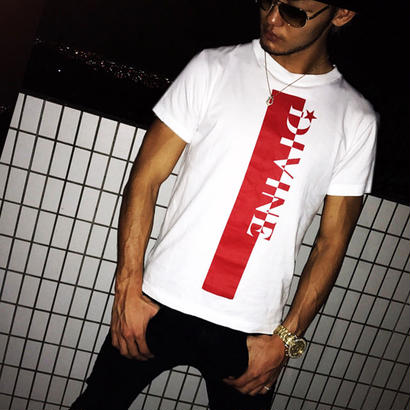 Tシャツ Star☆D_ストライプ☆white☆