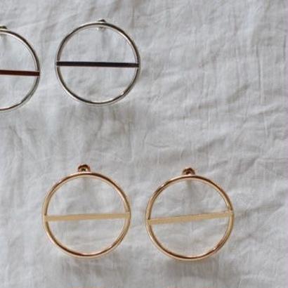 【To U DEPARTMENT】CIRCLE PIERCE  | SILVER & GOLD