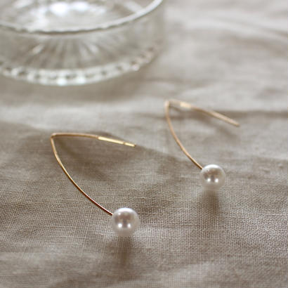 【To U DEPARTMENT】PEARL WIRE PIERCE  | GOLD