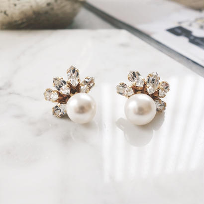 crystalpearl bijou pierce,earring