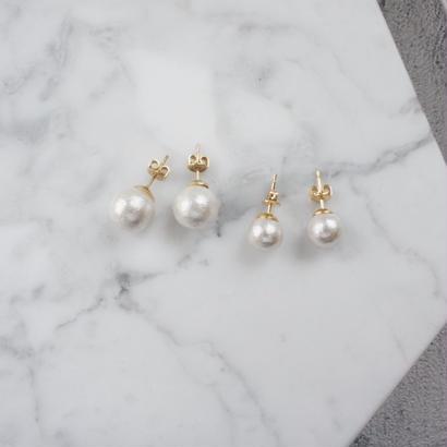 cottonpearl pierce,earring