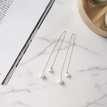 long chain pearl pierce