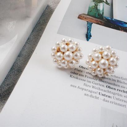 crystalpearl pierce,earring