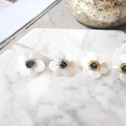 shell flower pierce,earring