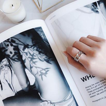 twist chain ring(silver925)