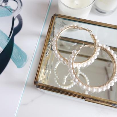 pearl big hoop pierce