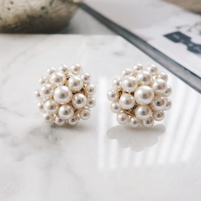 crystalpearl pierce,earring