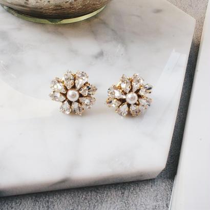 flower bijou pierce,earring