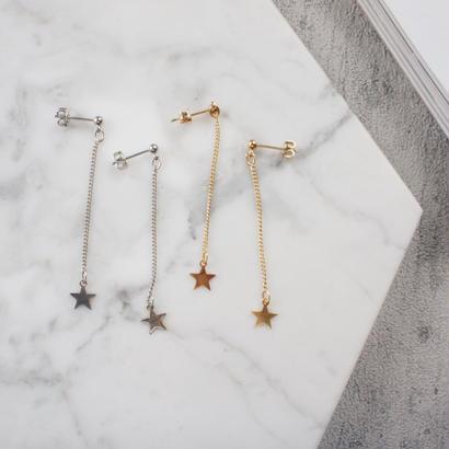 star chain pierce,earring