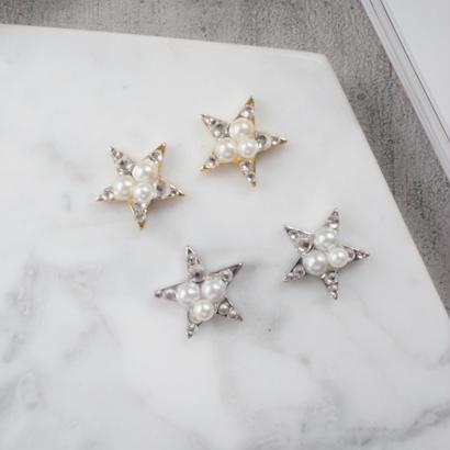 bijou star pierce,earring(gold,silver)