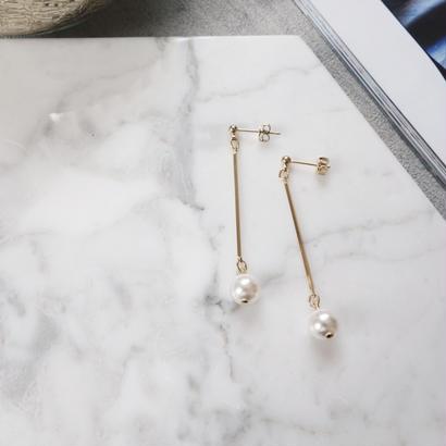 bar pearl pierce,earring
