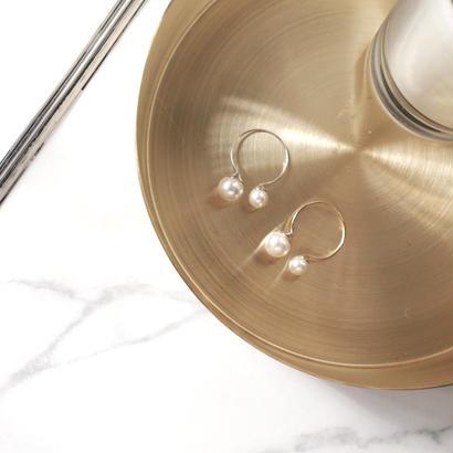 mini twin pearl ring