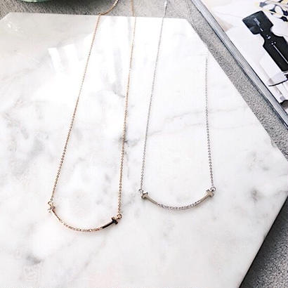 【在庫限り】curve cz necklace