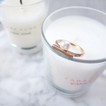 pearl bar ring