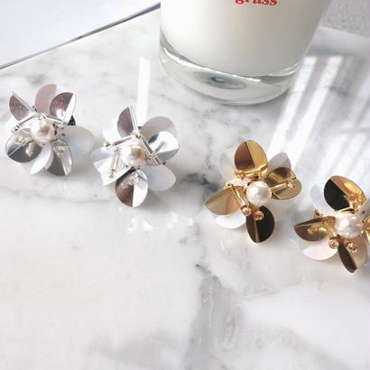 spangle pearl pierce,earring