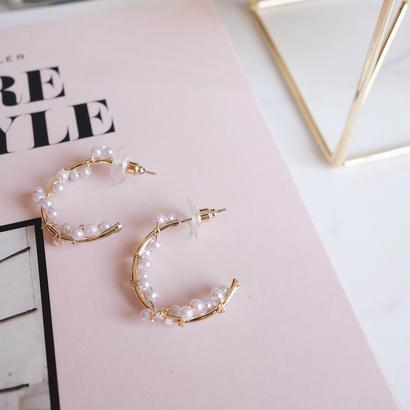 random pearl hoop pierce