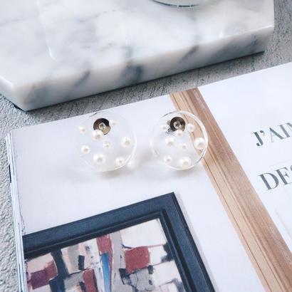 clear plate pierce,earring