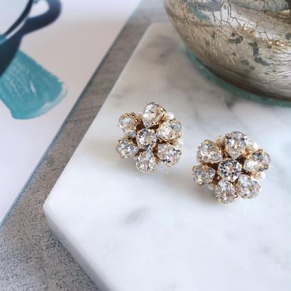 bijou flower pierce,earring