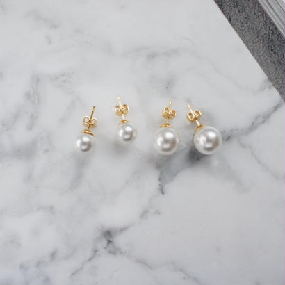 formal pearl pierce,earring(2color)