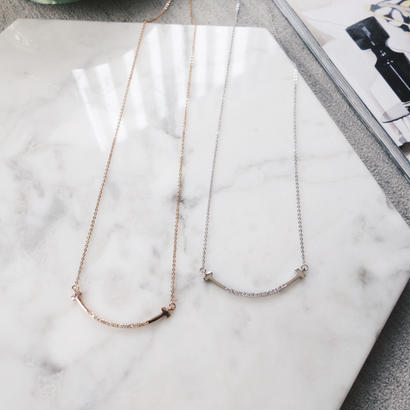 curve cz necklace