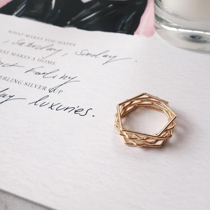 gold corner ring