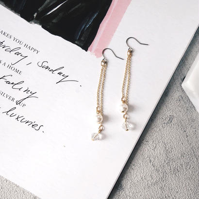 crystal chain pierce,earring
