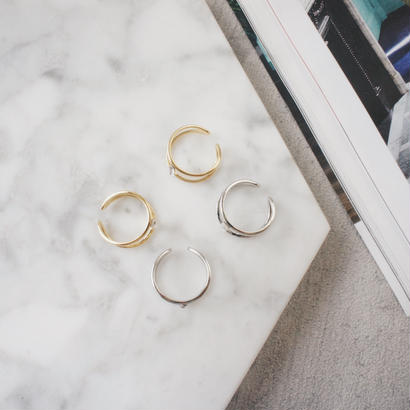 stone double ring