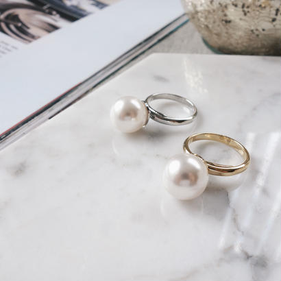 crystal pearl ring
