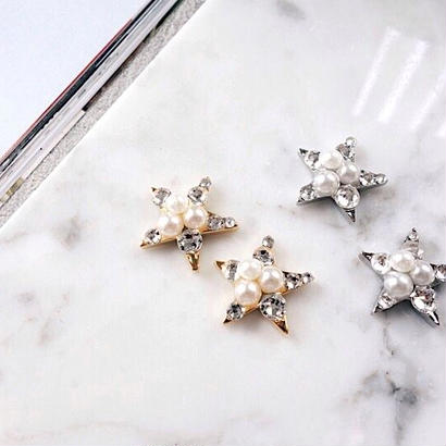 bijou star pierce,earring(gold,silver)