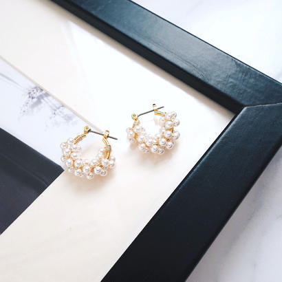 mini pearl hoop pierce