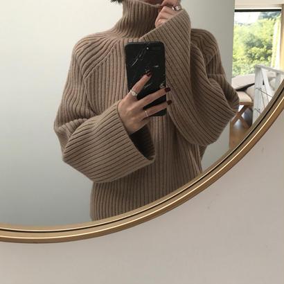 ハイネック Oversize Knit