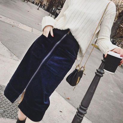 Zipper タイトスカート