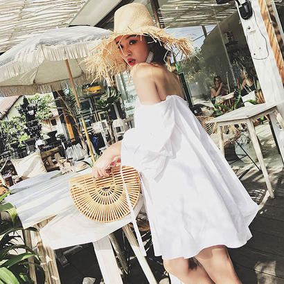 Tube White Dress