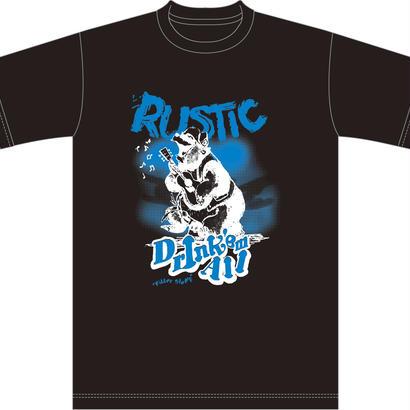 【Limited Black】Drink'em All [RUSTIK-UMA] T-shirts