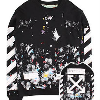 新品 数量限定  【オフホワイト OFF-WHITE】高品質 スウェット  Tシャツ 長袖 スウェット メンズ レディース ファッション 通販 [OW-433]