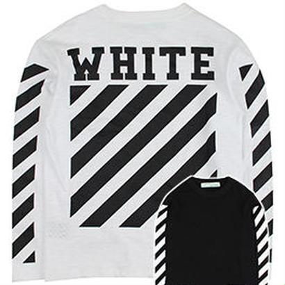 新品 数量限定  【オフホワイト OFF-WHITE】  Tシャツ 長袖 スウェット メンズ レディース ファッション 通販 [OW-446]
