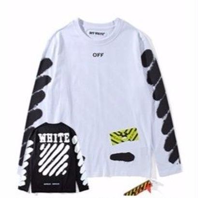 新品 数量限定  【オフホワイト OFF-WHITE】超高品質 Tシャツ トレーナー 長袖 メンズ レディース ファッション 通販 [OW-436]