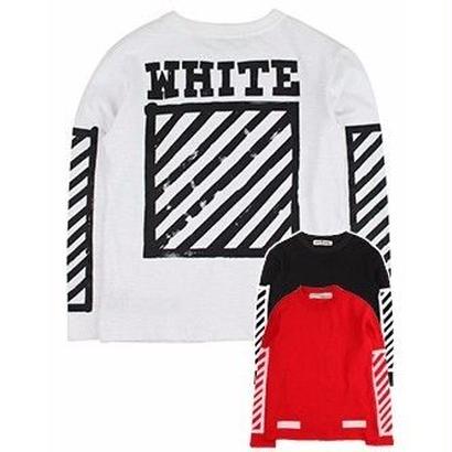 新品 数量限定  【オフホワイト OFF-WHITE】  Tシャツ 長袖 スウェット メンズ レディース ファッション 通販 [OW-448]