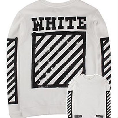 新品 数量限定  【オフホワイト OFF-WHITE】  Tシャツ 長袖 トレーナー メンズ レディース ファッション 通販 [OW-474]