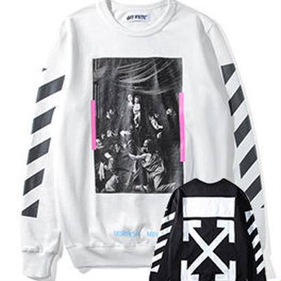新品 数量限定  【オフホワイト OFF-WHITE】高品質 スウェット  Tシャツ 長袖 スウェット メンズ レディース ファッション 通販 [OW-434]
