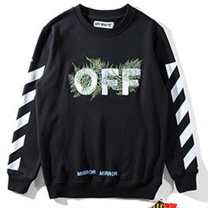 新品 数量限定  【オフホワイト OFF-WHITE】超高品質 スウェット  Tシャツ 長袖 スウェット メンズ レディース ファッション 通販 [OW-439]