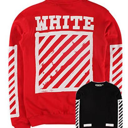 新品 数量限定  【オフホワイト OFF-WHITE】  Tシャツ 長袖 トレーナー メンズ レディース ファッション 通販 [OW-472]